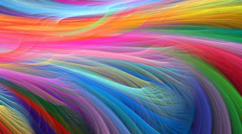 Abstracto: el agua de la vida multicolor