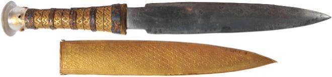La daga de hierro meteorítico fabricada para Tutankamón