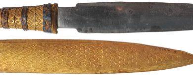Daga de Tutankamon (hierro meteorítico)