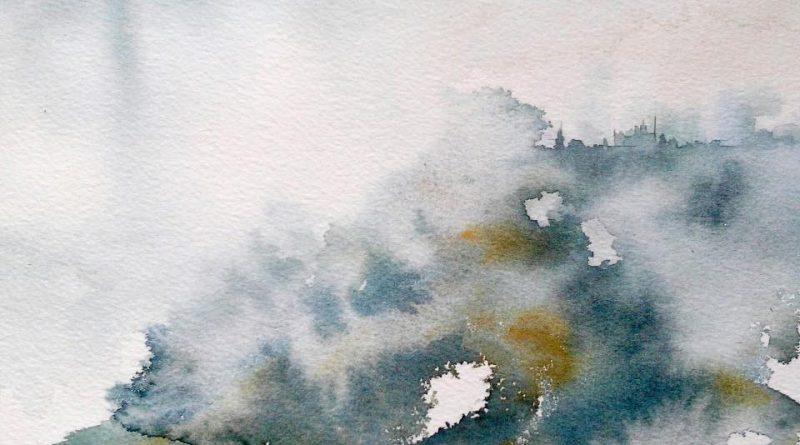 Las olas del corazón… (Acuarela: Beatriz Díez Muiño)