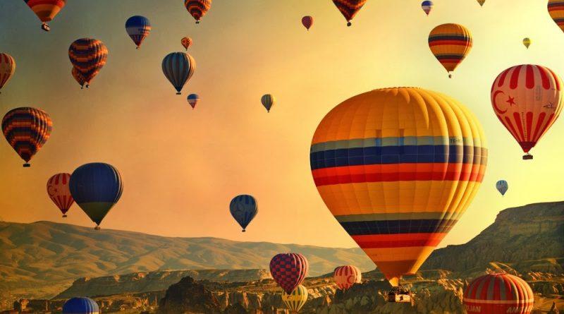 Globos sobrevolando Turquía