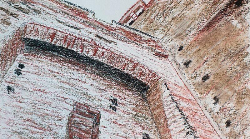 Castillo de la Mota. Contrapicado del acceso al patio de armas y torre del homenaje - (C) Roberto Sastre Quintano 2019