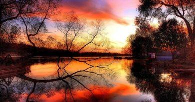 Luz de atardecer sobre el lago