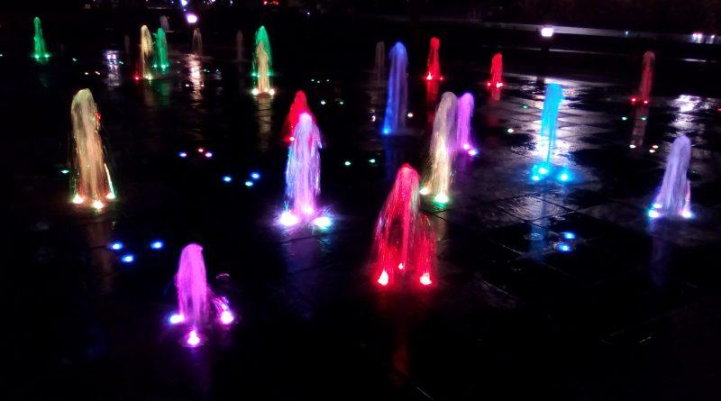 fuentes multicolor (torres de Chamartín, Madrid)