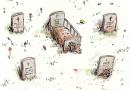 Ilustración tumbas
