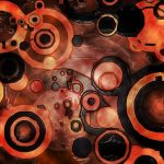Ilustración digital abstracta: Lava