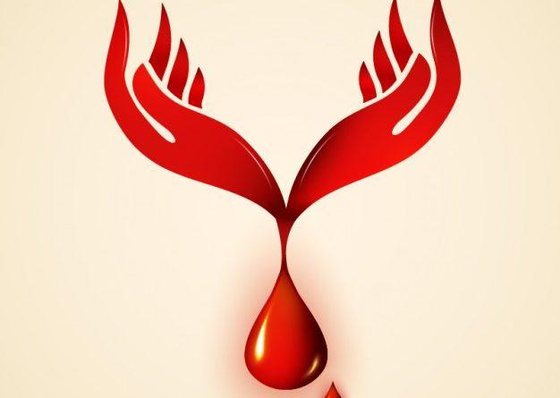logo manos y gota de sangre - freepik.es