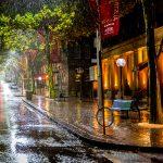 Calle. Noche lluviosa (Sidney, Australia). Fuente: gde-fon.com